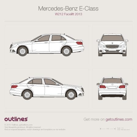 2013 Mercedes-Benz E-Class W212 Facelift Sedan drawings