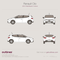 2005 Renault Grand Scenic II Minivan blueprints free