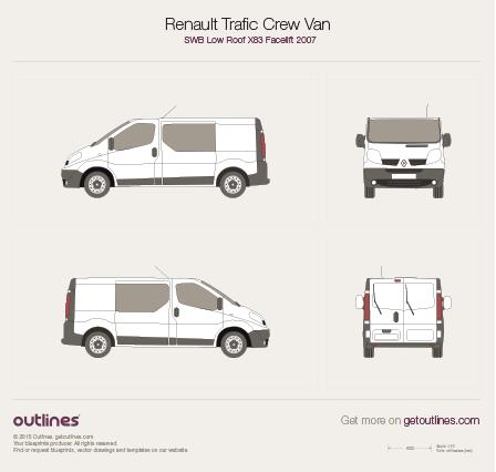 2007 Renault Trafic X83 Crew Van SWB Low Roof Facelift Van