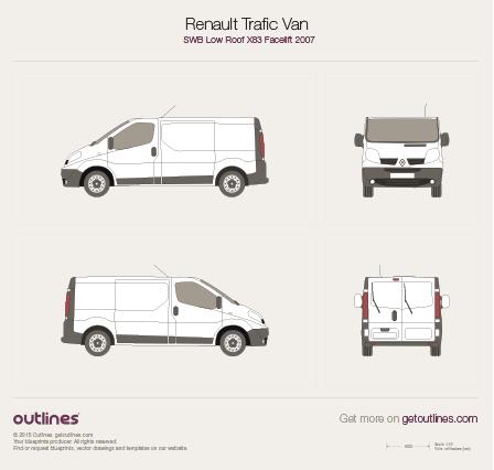 2007 Renault Trafic X83 Van SWB Low Roof Facelift Van