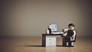 Business man at a desk