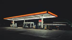 petrol forecourt