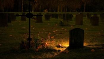 darkend tombstone