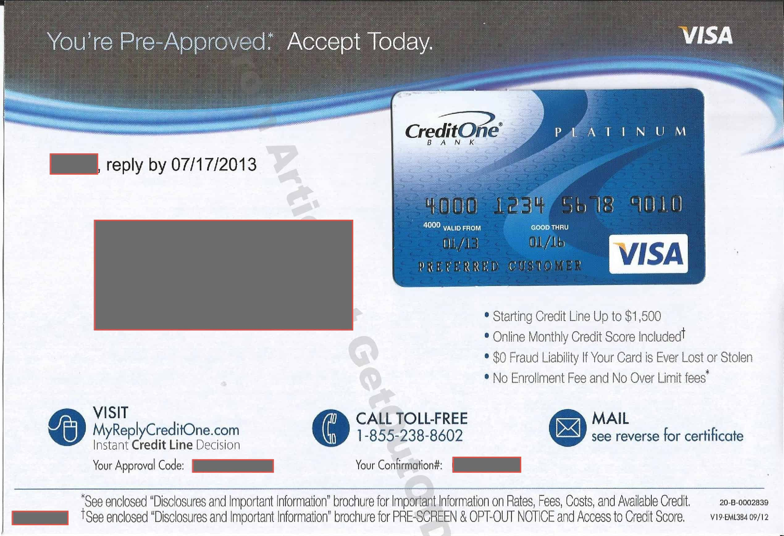 Debt Counselor Cover Letter Credit One Bank Platinum Visa Offer Review
