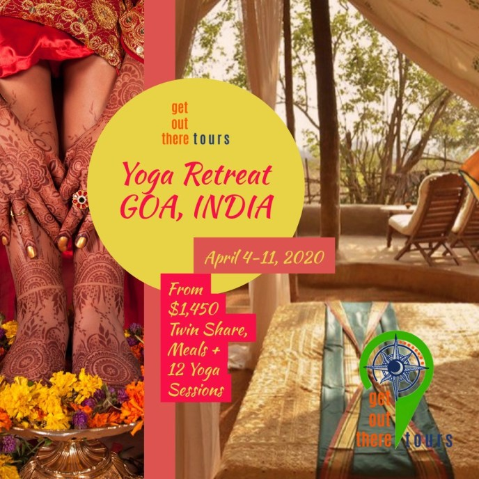 Get Out There Tours  Goa, India. Whether you are new to the practice of Yoga, or a seasoned yogi, this experience is sure to rejuvenate your mind and body.