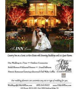 Magazine Ad for NJ Brides for the Olde Mill Inn