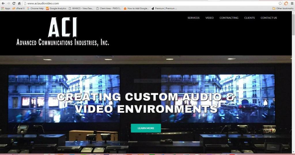 Advanced Communications Industries Web Site Image