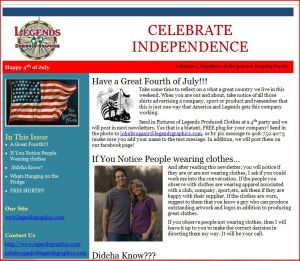 image of an email newsletter