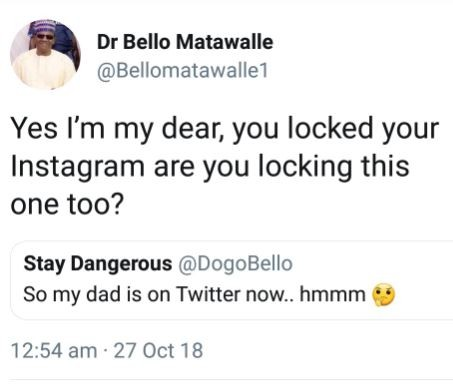 Between a father on son on Twitter.,,
