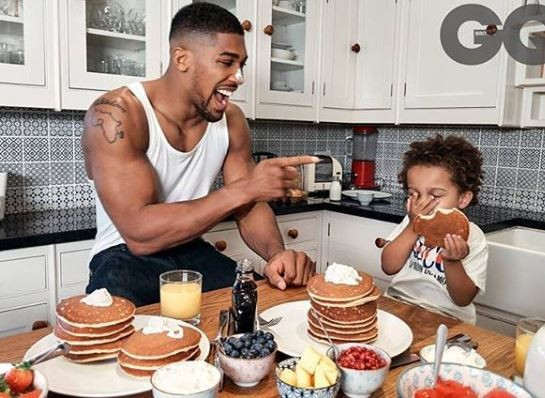 Anthony and his son, JJ are all shades of cute as they cover the December edition ofGQ Magazine (Photos)