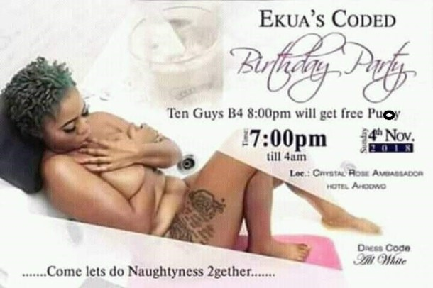 'Free Pu**y for the first 10 guys': Woman's naked scandalous birthday IV trends on social media (Photos)