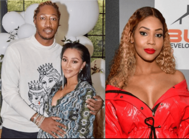Future's babymama Brittni Mealy reacts after getting trolled for attending his other babymama to-be Joie Chavis's baby shower with him