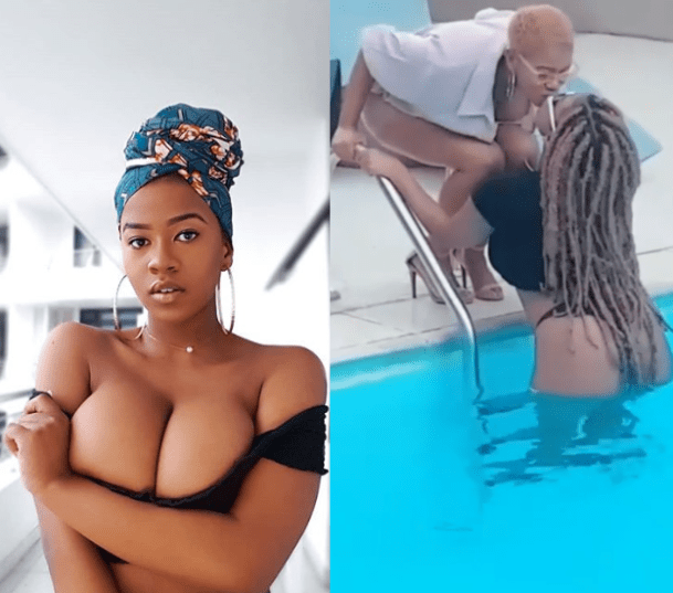 Founder of 'The Boob Movement' Chioma comes out as Lesbian, shows off her partner as they share a kiss in new video