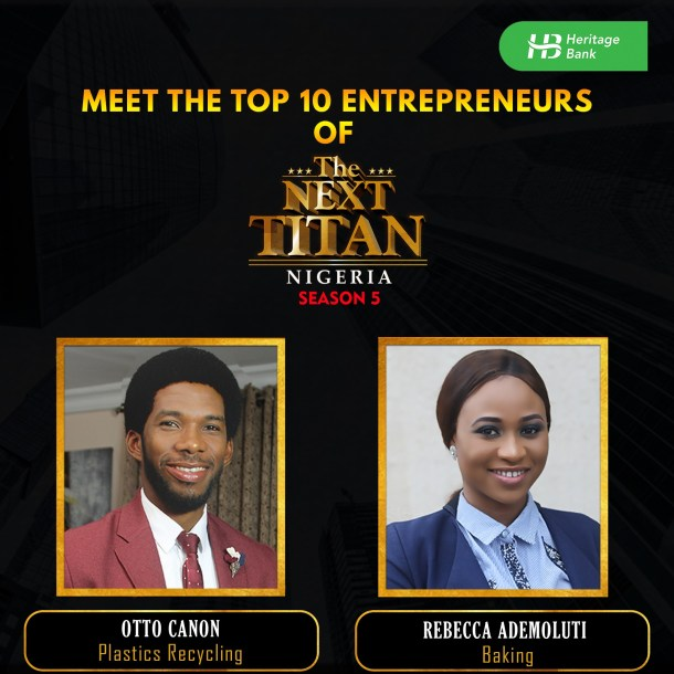 Meet Top 10 Entrepreneurs of The Next Titan Nigeria 5.0