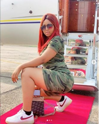 Regina Daniels has been allegedly flying in Ned Nwoko's private jet lailasnews 4