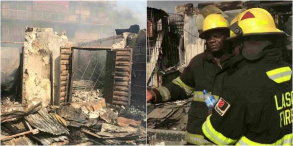 Goods worth millions of Naira destroyed as fire guts shops In Ogba, Lagos lailasnews 4