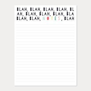 blah, blah, notes
