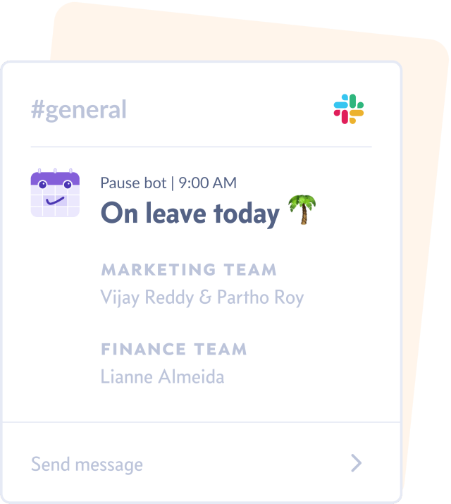 Get daily time-off summaries when you add Pause, a leave management and team planning tool, to your Slack workspace.