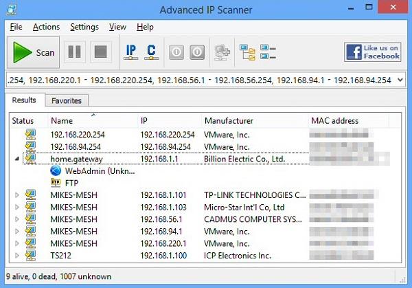 Advanced IP Scanner Download 32-64Bit