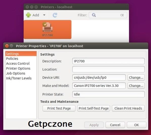 Canon Pixma IP2770 Printer Driver Download