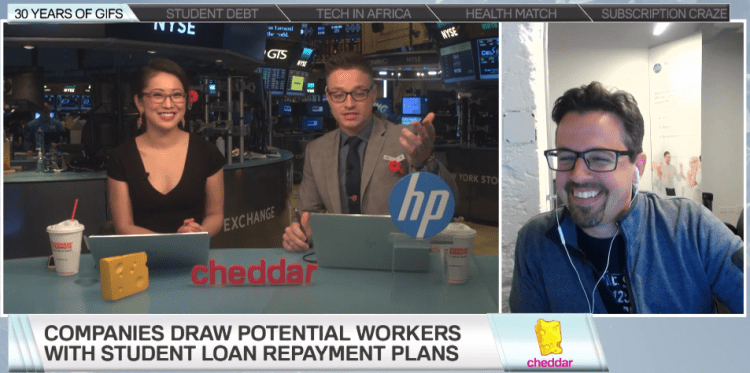 Peanut Butter CEO appears on the Closing Bell
