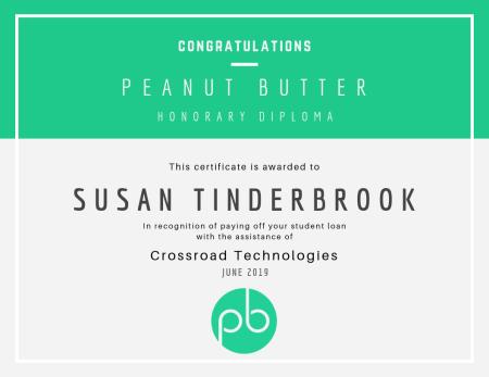 Peanut Butter Honorary Diploma