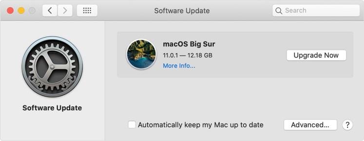 update Mac OS
