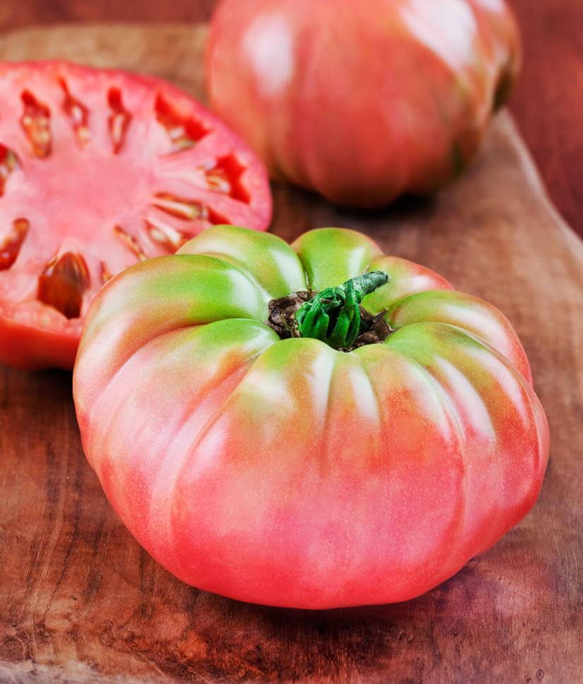 Heirloom beefsteak tomatoes are one of the most delectable things the warm summer sun can produce.