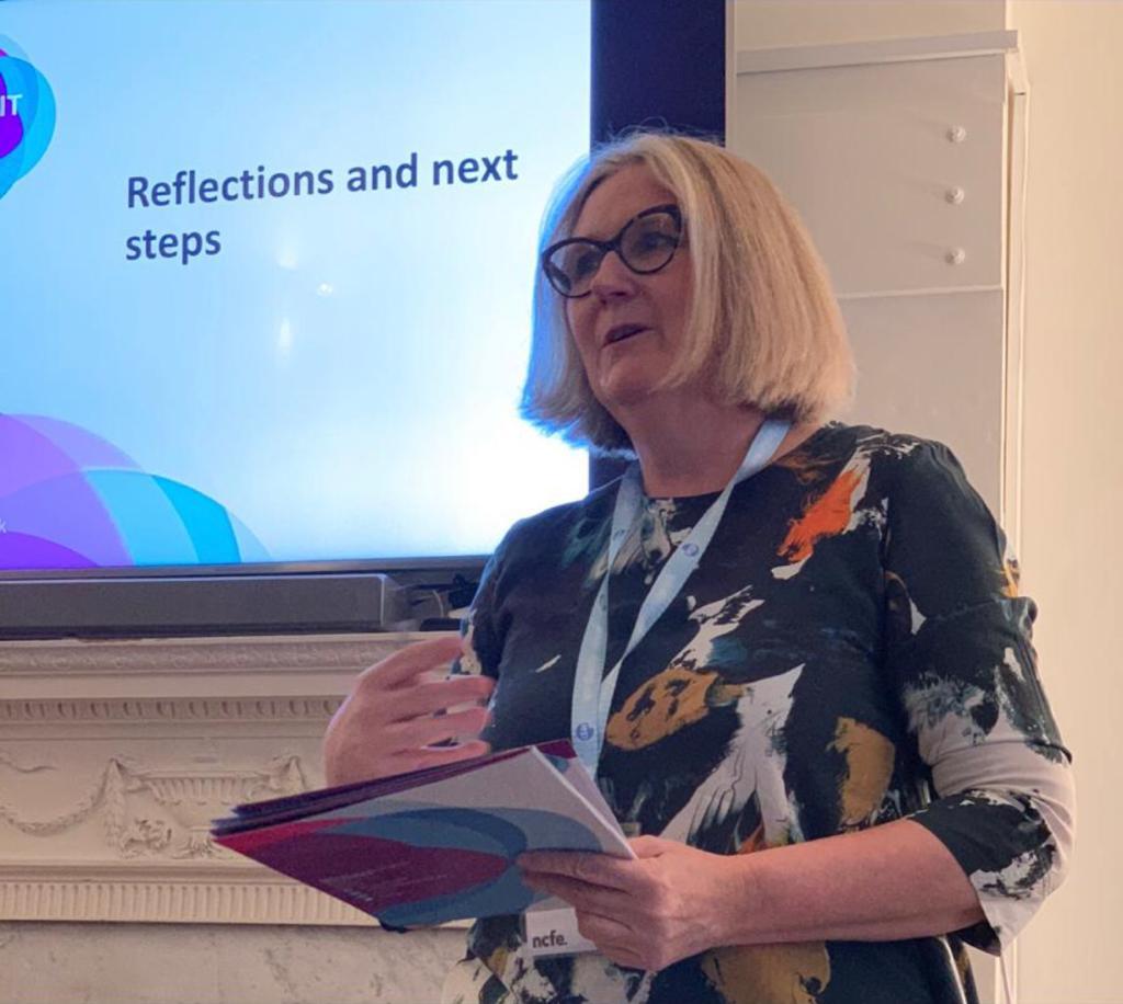 Liz Sewell FIEP Speaks at Summit