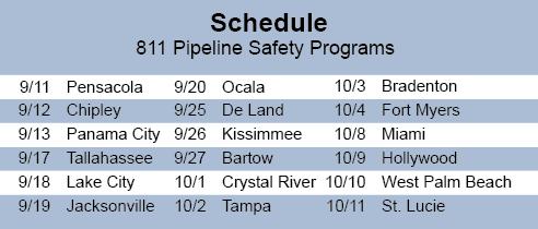 Sunshine 811 Schedule