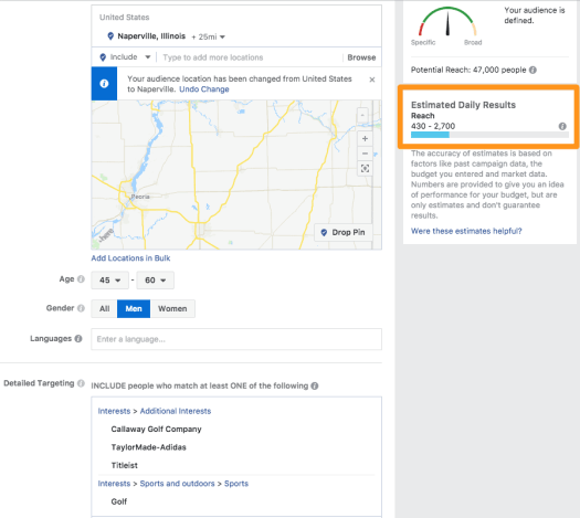 Facebook-Ad-Targeting-Example Ultimate Guide on How to Get More Patients to Your Practice - 2018