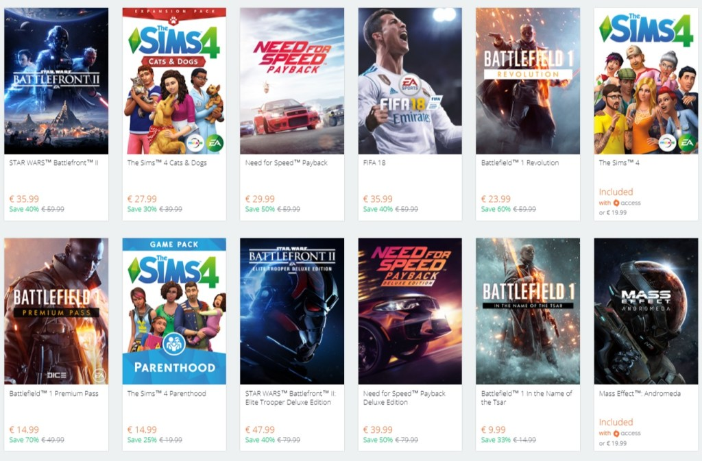 Ea Origin Holiday Sale 1