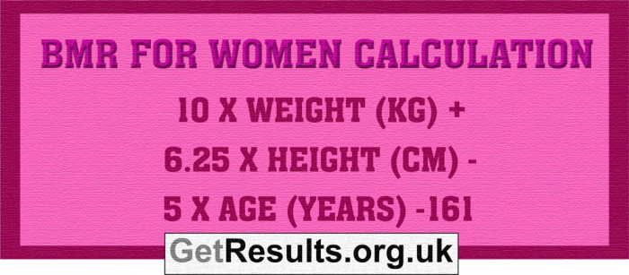 Get Results: BMR women calculation