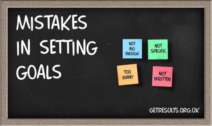 Get Results: mistakes in setting goals