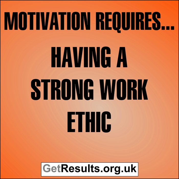 Get Results: Motivation requires...having a strong work ethic