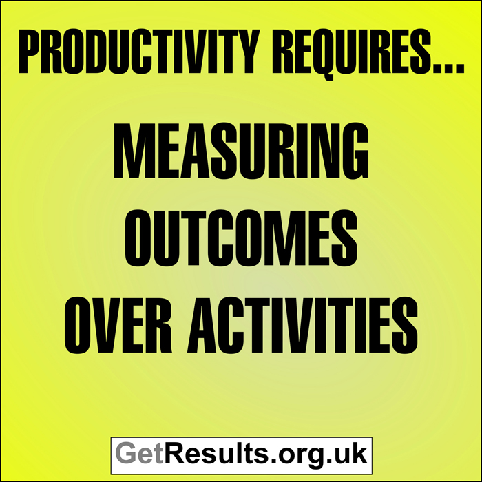 Get Results: Productivity requires measuring outcomes over activities