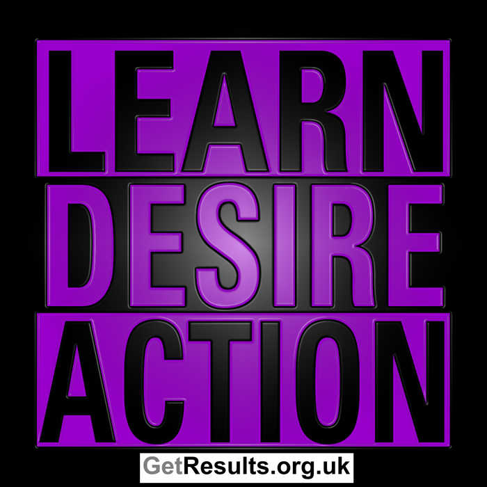 Get Results: learn, desire, action
