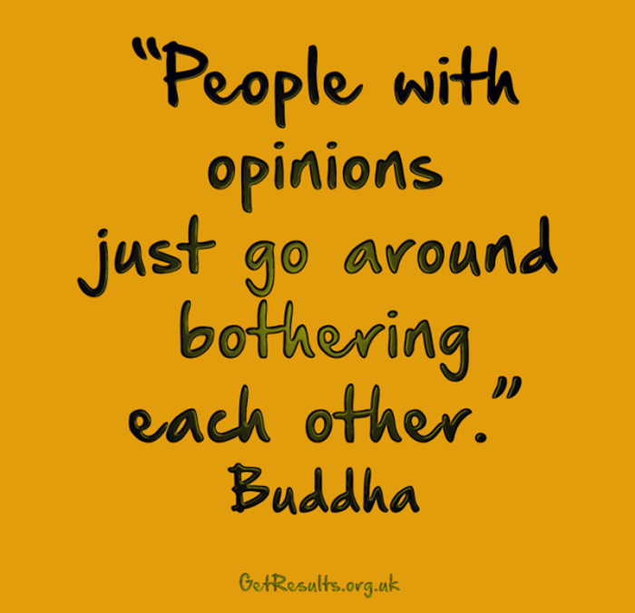 Get Results: bother each other with opinions