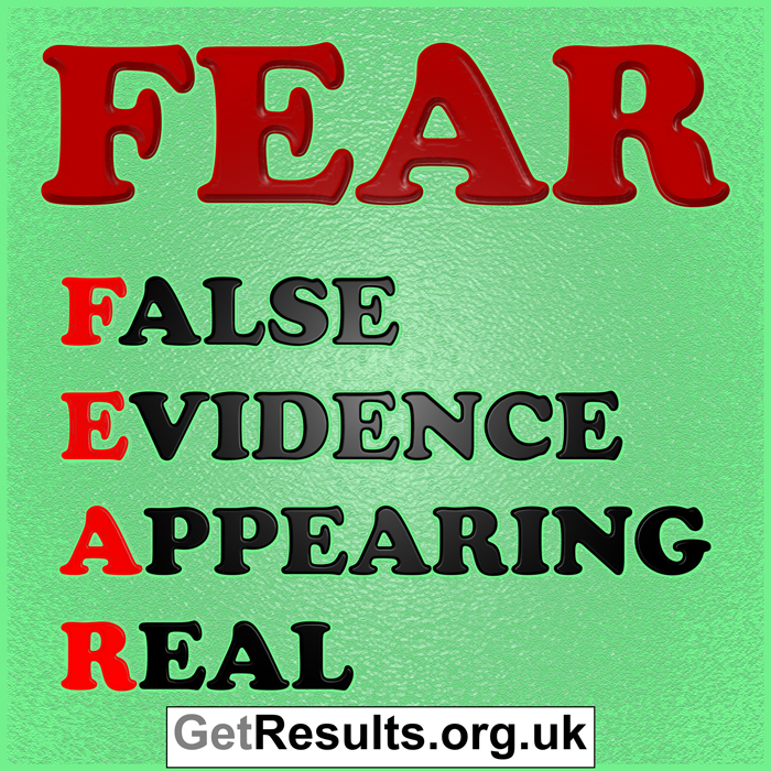 Get Results: fear stands for