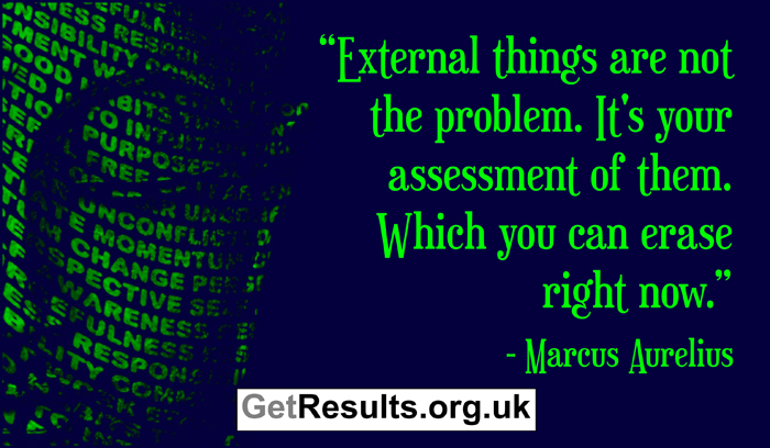 Get Results: spiritual quotes your assessment is the problem