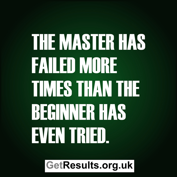 Get Results: the master has failed more times