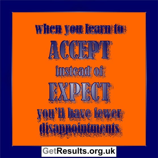 Get Results: accept instead of expect