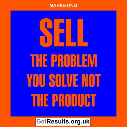 Get Results: marketing quotes sell the problem