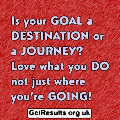 Get results: love what you do not just where you're going