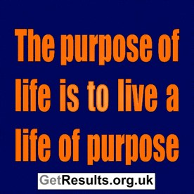 Get Results: the purpose of life is to live with purpose