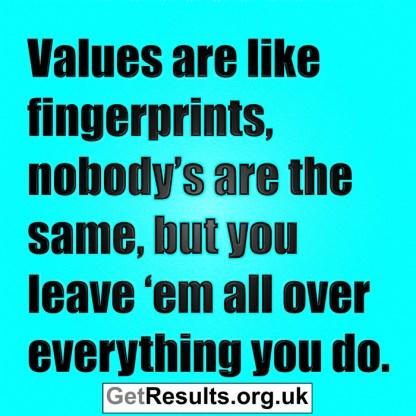 Get Results: values are like fingerprints