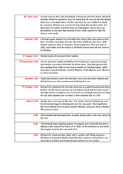 The Timeline of the Third Crusade  Document in A Level