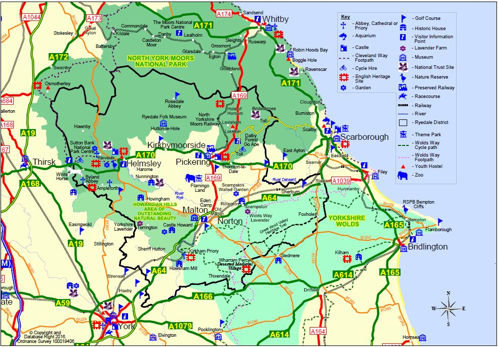 Ryedale North Yorkshire Map