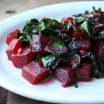 Lemon Roasted Beets with Sauteed Beet Greens