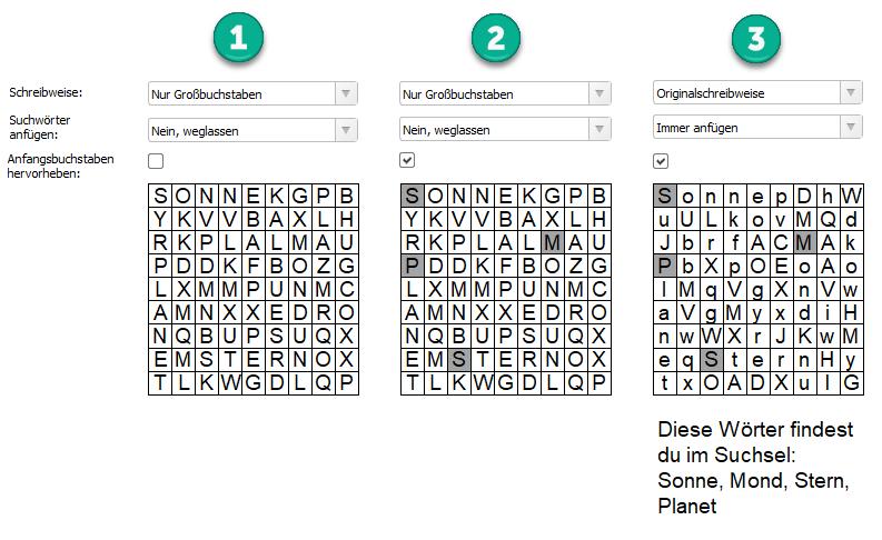 Wortsuchrätsel